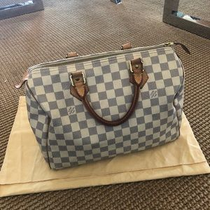 Louis Vuitton Bags - Auth. Louis Vuitton Speedy 30 Damier Azur Canvas
